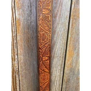 Accessories - Custom tooled leather western/boho belt